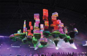 世界最大級 リアルタイム3Dプロジェクションマッピング事例 シンガポール建国記念イベント